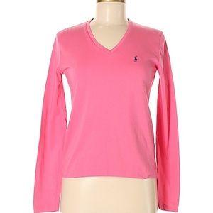 Ralph Lauren Sport Pink Long Sleeve Tee Size Med.